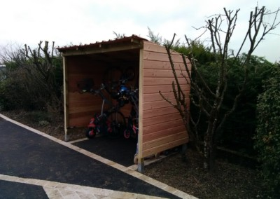 abris à vélos cottet jardins paysagiste